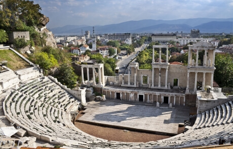 History and culture of Bulgaria - Roman Amphitheatre in Plovdiv