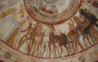 Drawings in the most famous Thracian tomb - Kazanluk tomb
