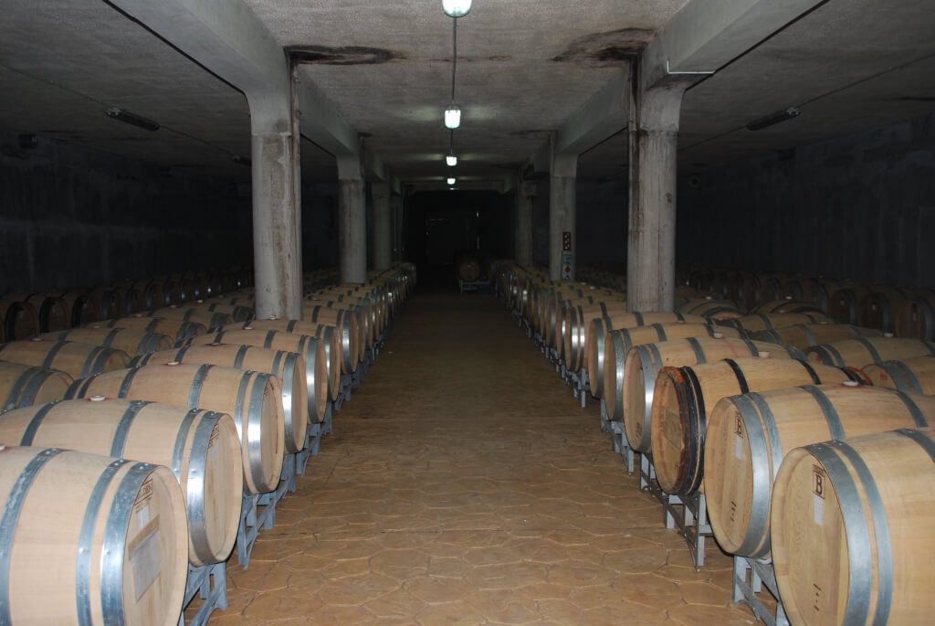 The cellar of Rumelia winery in Rose Valley wine region