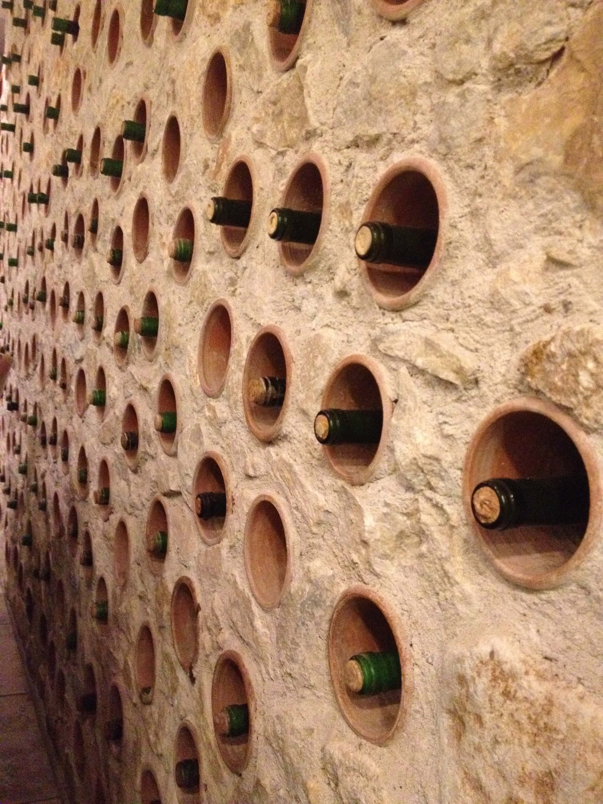 Enoteca Bendida's wine wall