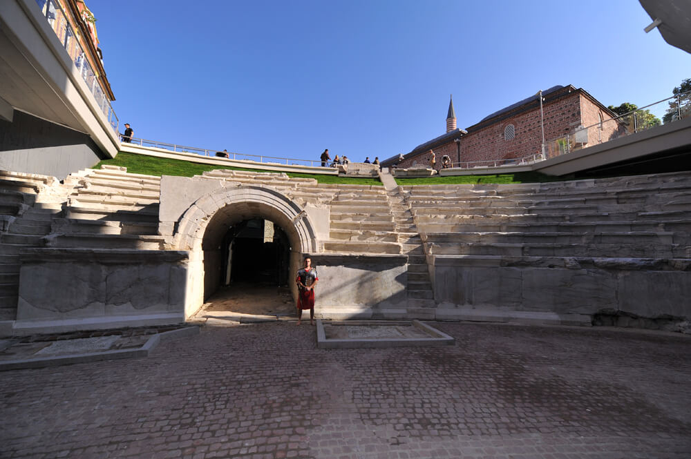 The 30 000-seat Roman stadium in Plovdiv