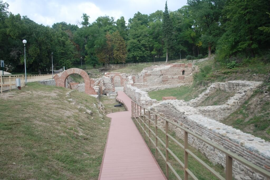 The old Roman thermal baths in Hisarya