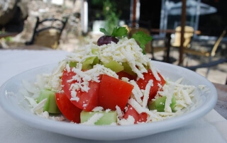 Shopska salad from the Sofia region
