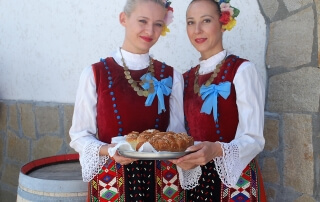 Bulgarian girls in the village
