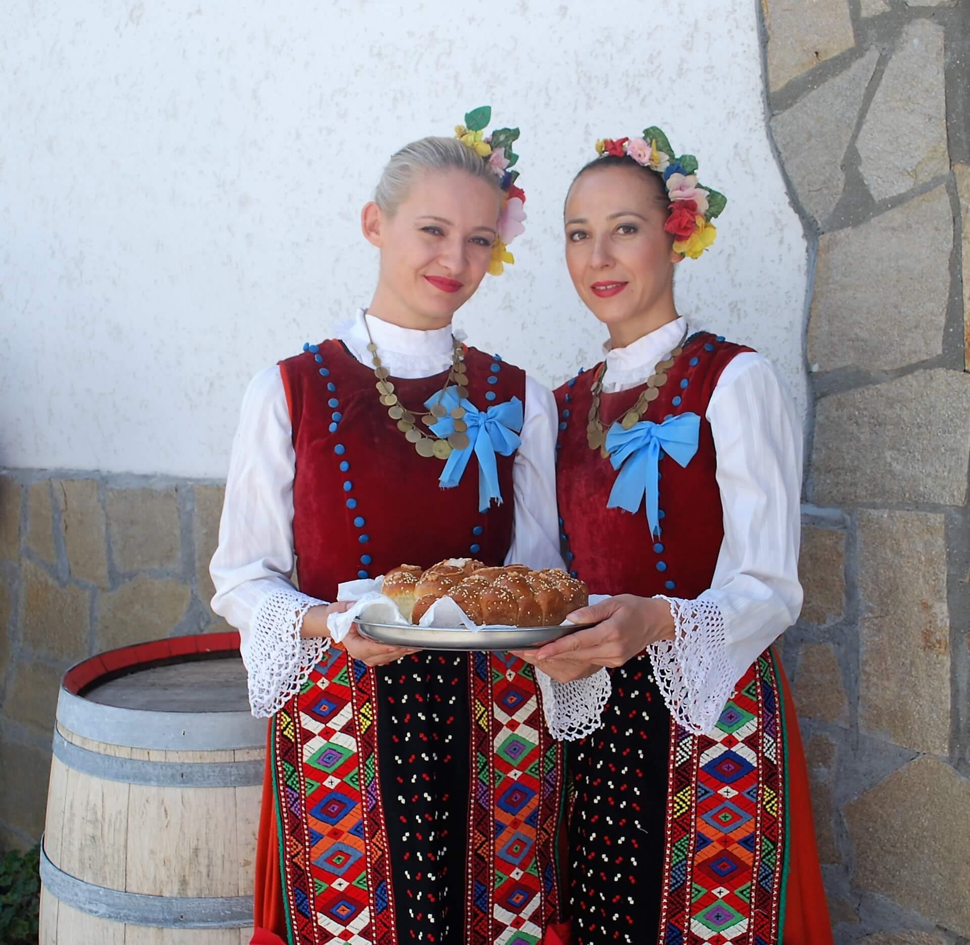 Bulgarian girls in the village