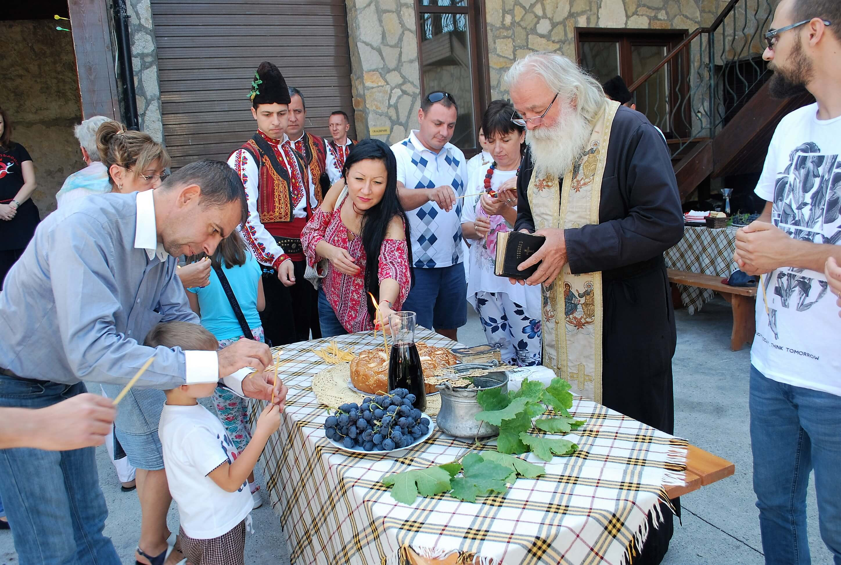 Blessings from the Bulgarian priest