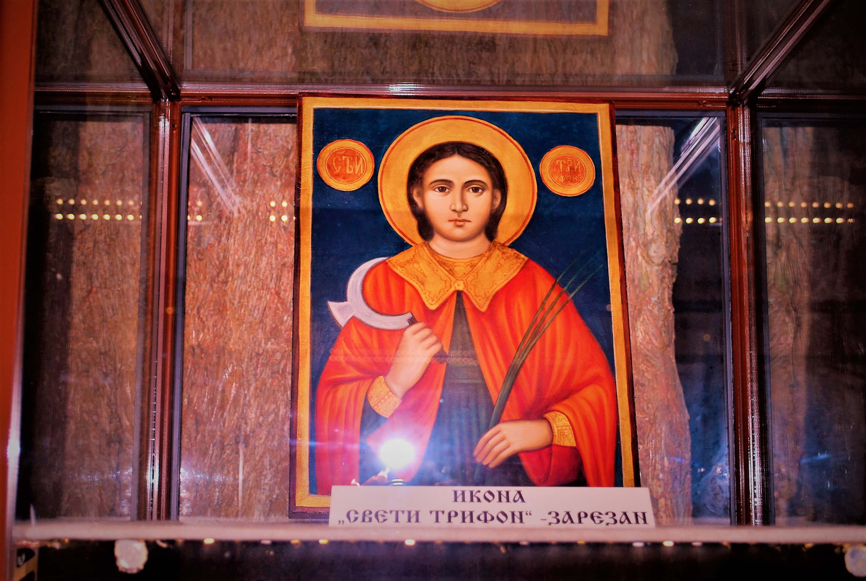 St, Trifon Zarezan Icon