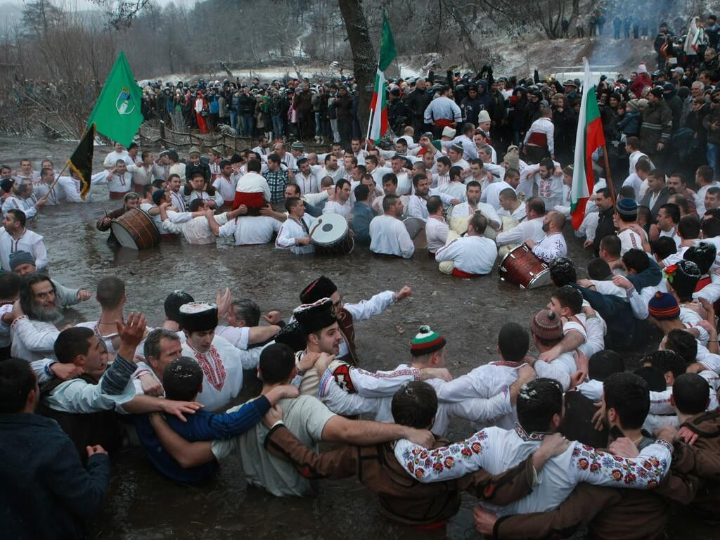 Jordanovden in Kalofer Bulgaria