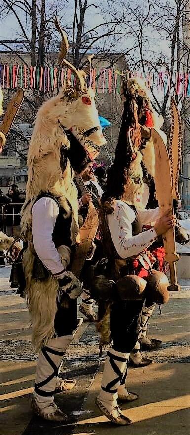Kukeri Men at the Surva Festival