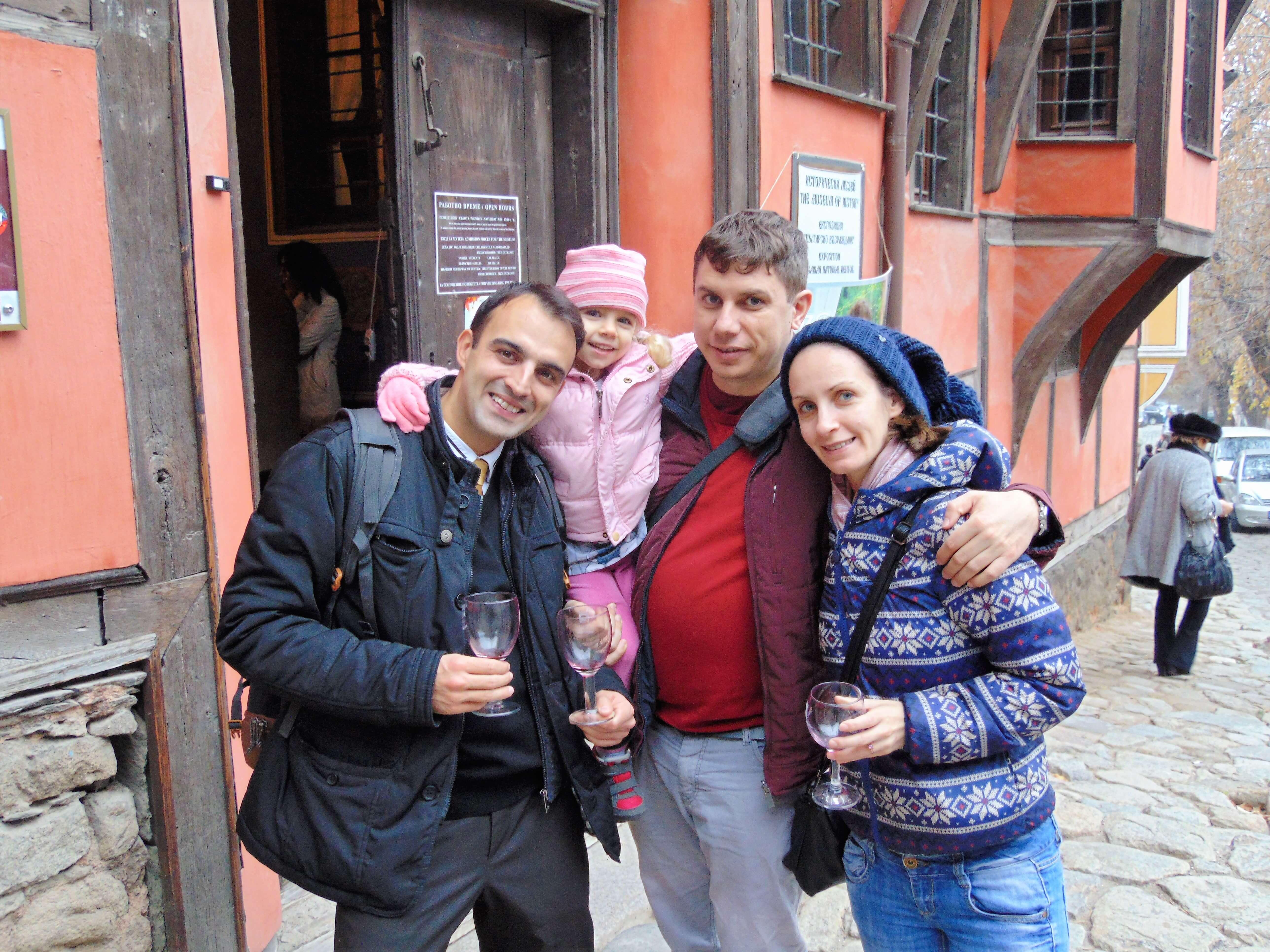 Andrey Andreev, Maria Andreeva, Zina Sorensen and Vasil Zlatev in Plovdiv