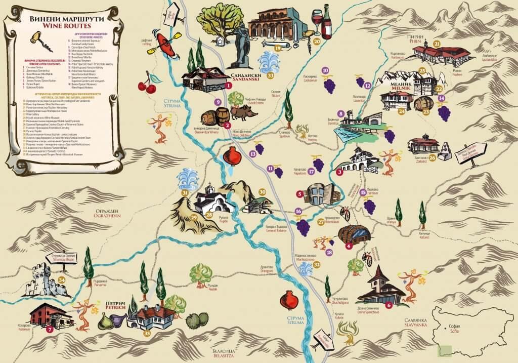 Melnik Wine Map