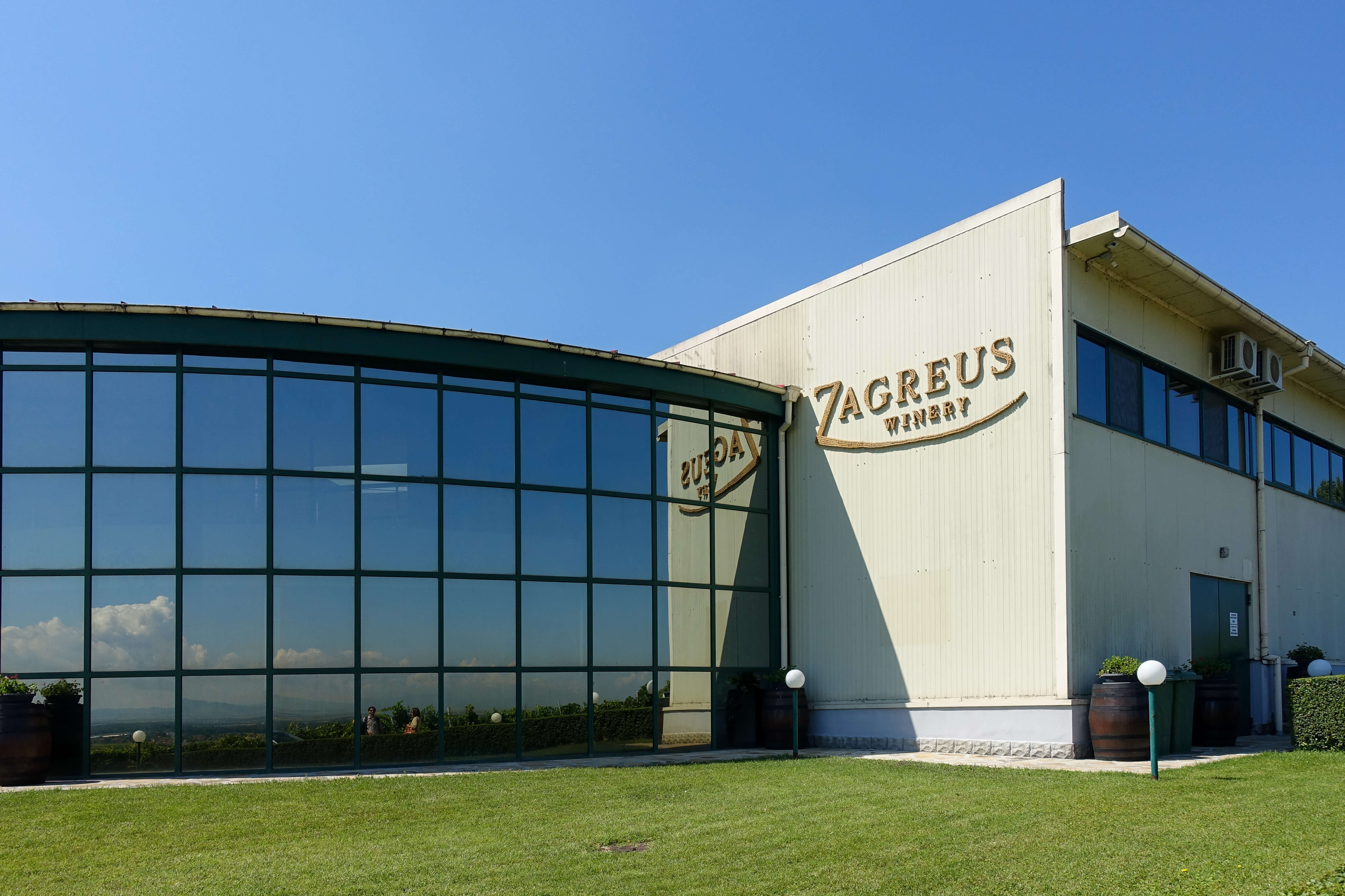 The exterior or Zagreus winery