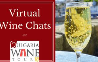 Virtual wine chat sparkling wine
