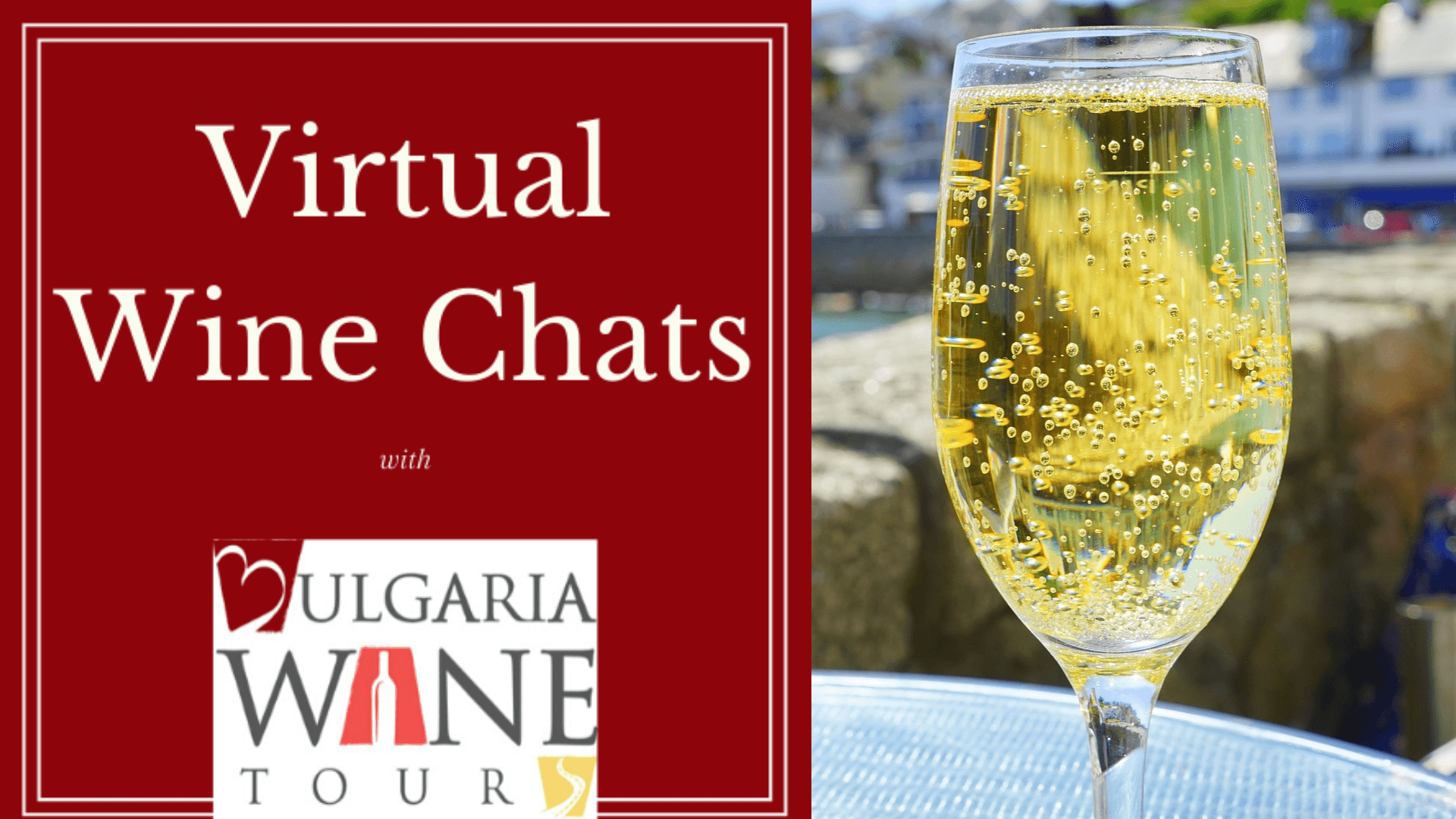 Virtual wine chat sparkling wine